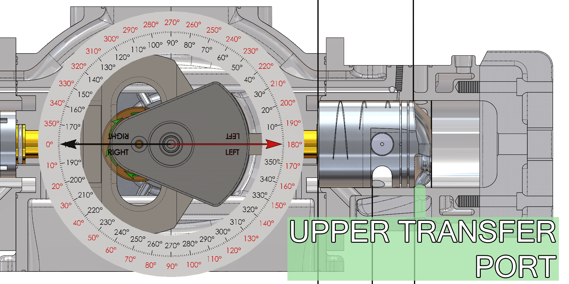 Upper Transfer Ports Right Cylinder