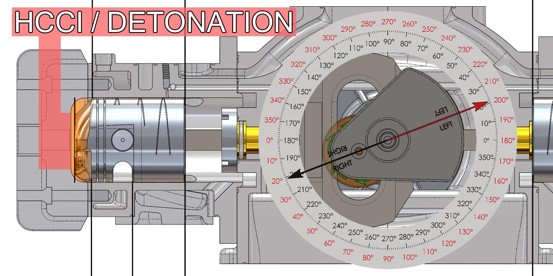 HCCI/Detonation Left Cylinder
