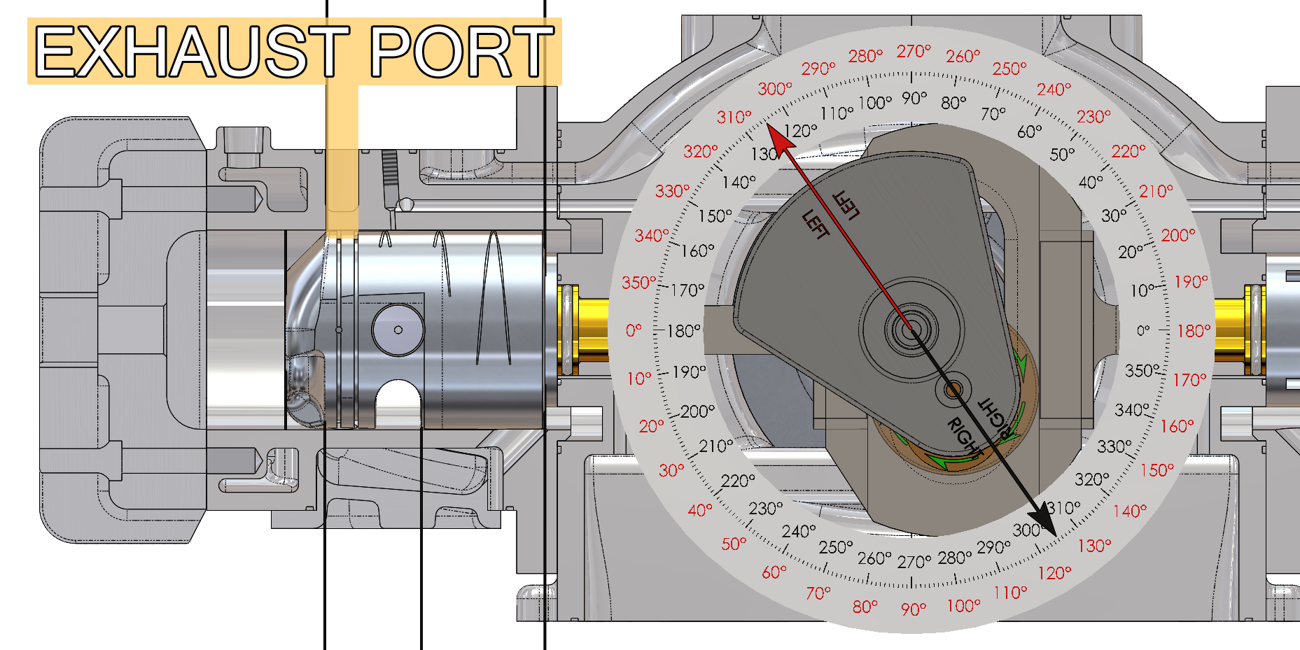 Exhaust Ports Left Cylinder