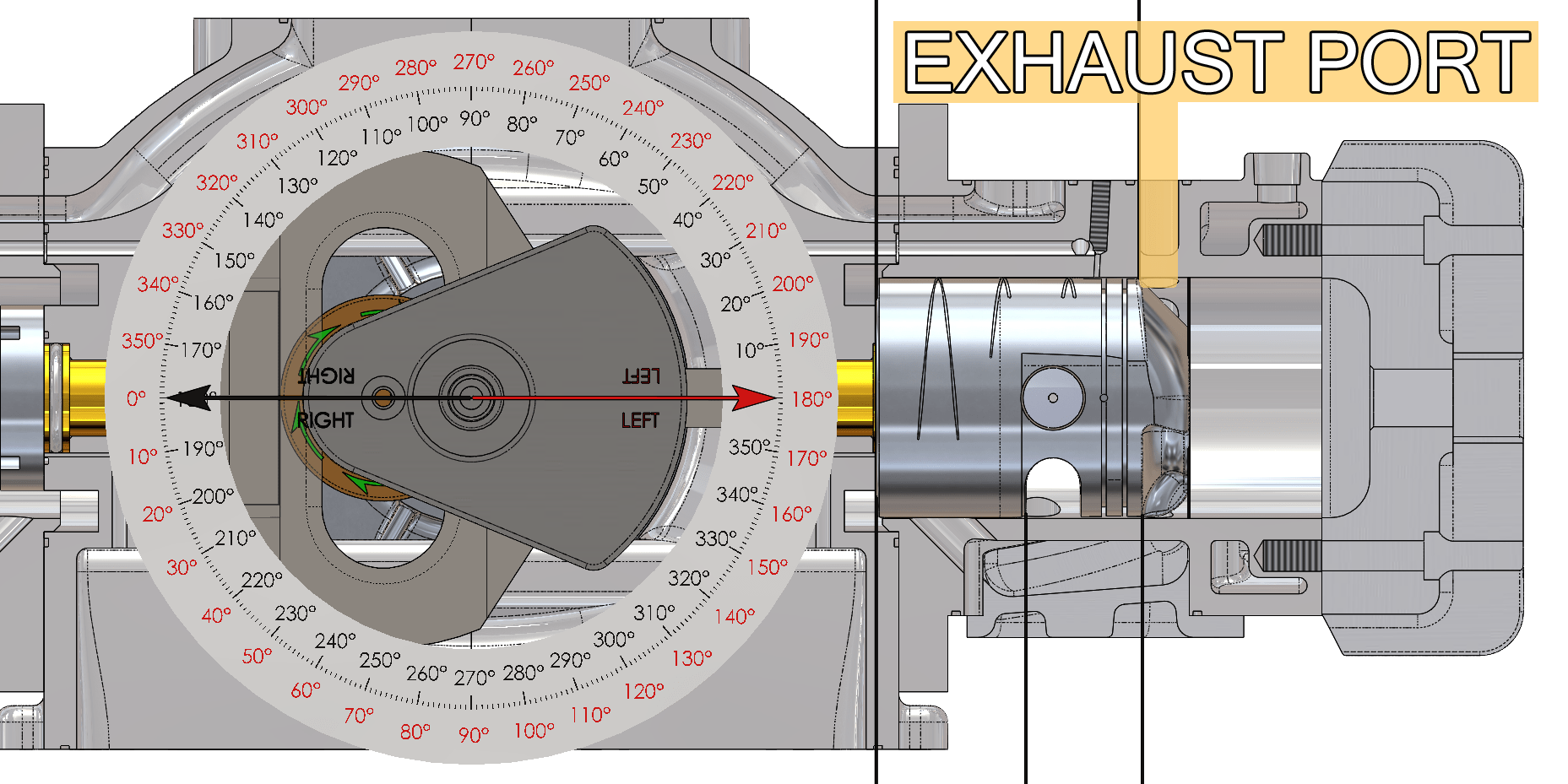 Exhaust Ports Right Cylinder